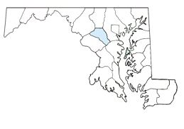 Howard County on Map of Maryland