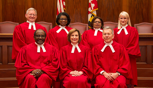 Group Photo of the Judges of the Maryland Court of Appeals
