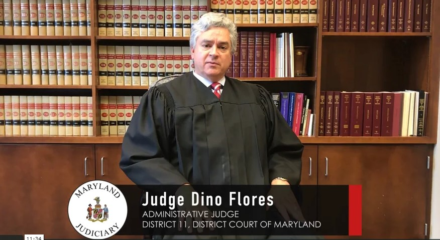 Maryland District 11 Judge Dino Flores