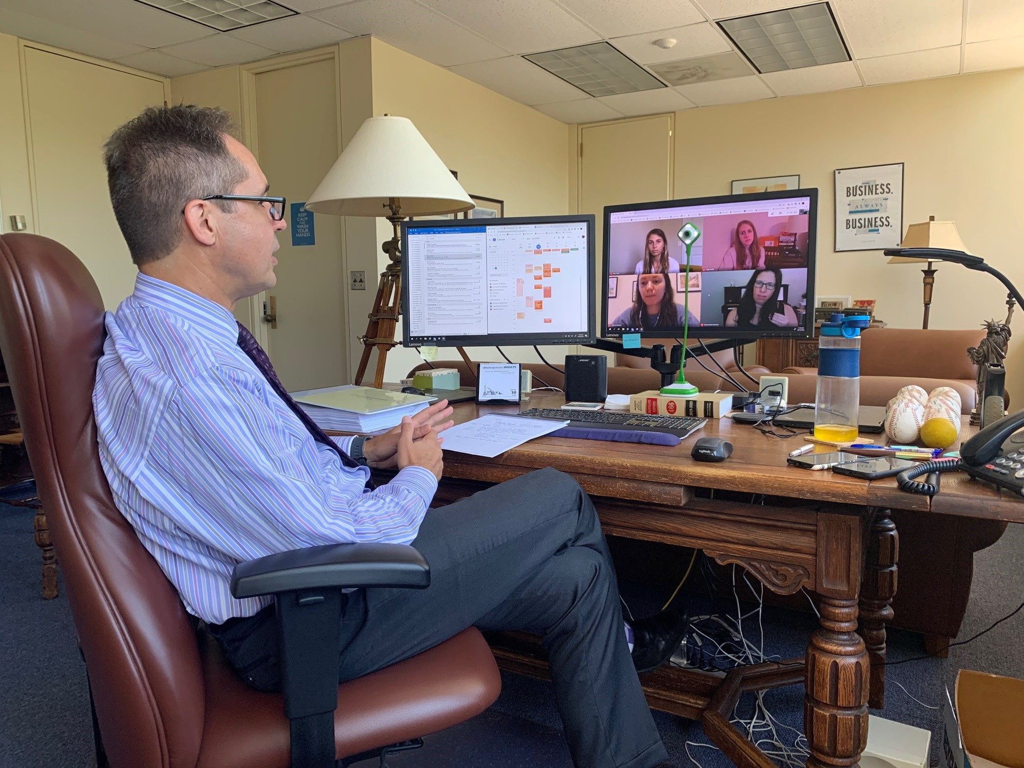 Maryland Court of Special Appeals Judge Douglas Nazarian on a Zoom meeting